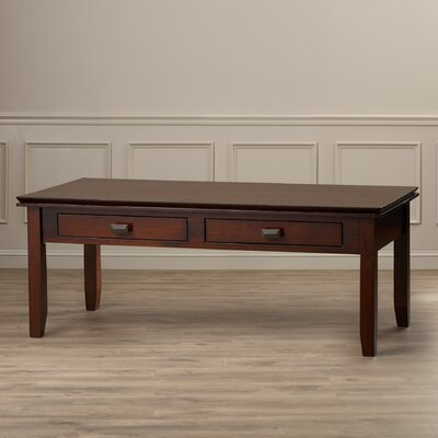 Artisan Coffee Table Color: Medium Auburn Brown