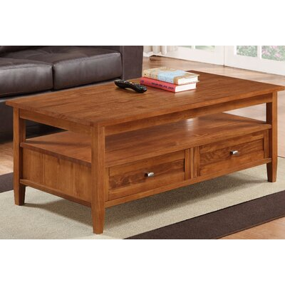 Warm Shaker Coffee Table Color: Honey Brown