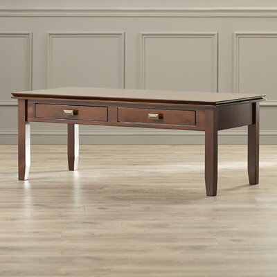 Artisan Coffee Table Finish: Natural Aged Brown