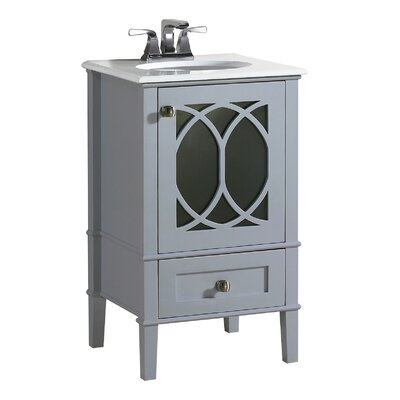 Paige 21 Single Bathroom Vanity Set Base Finish: Grey