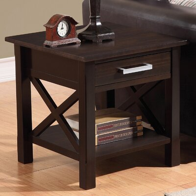 Kitchener End Table With Storage� Color: Brown