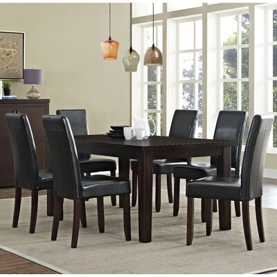 Acadian 7 Piece Dining Set Chair Finish: Midnight Black
