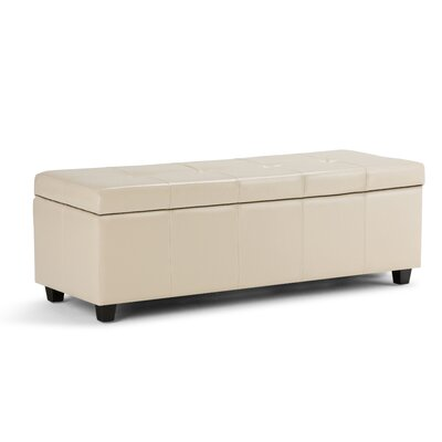 Castleford Storage Ottoman Upholstery: Satin Cream