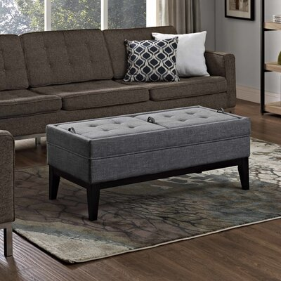 Castlerock Leather Ottoman Upholstery: Slate Gray