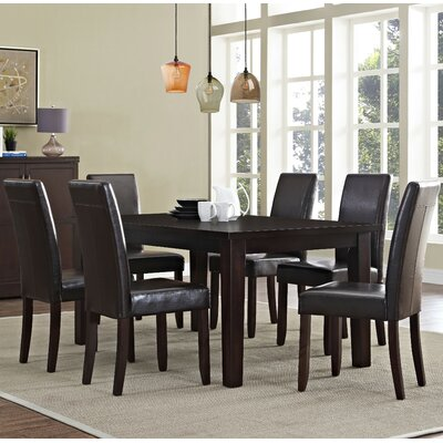 Acadian 7 Piece Dining Set Chair Finish: Tanners Brown