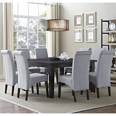 Avalon 9 Piece Dining Set Chair Finish: Dove Gray