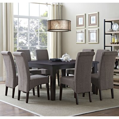 Avalon 9 Piece Dining Set Chair Finish: Light Mocha