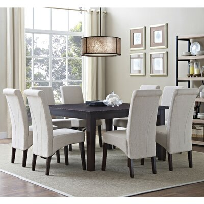 Avalon 9 Piece Dining Set Chair Finish: Natural
