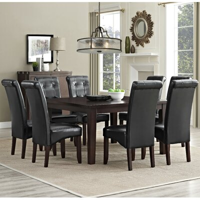 Eastwood 9 Piece Dining Set Chair Finish: Midnight Black