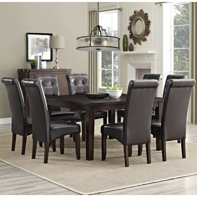 Eastwood 9 Piece Dining Set Chair Finish: Tanners Brown