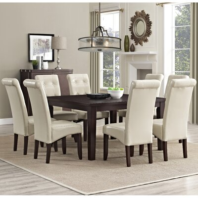 Eastwood 9 Piece Dining Set Chair Finish: Satin Cream