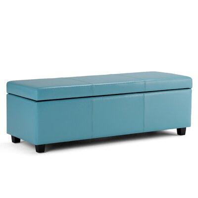 Avalon Storage Ottoman Upholstery: Blue