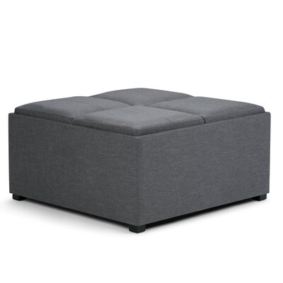 Avalon Coffee Table Storage Ottoman Upholstery: Slate Gray