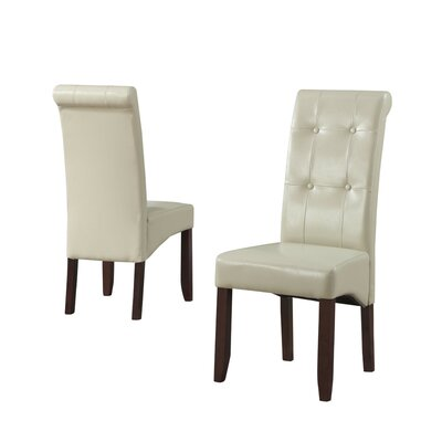 Cosmopolitan Parsons Chair Upholstery: Faux Leather - Satin Cream