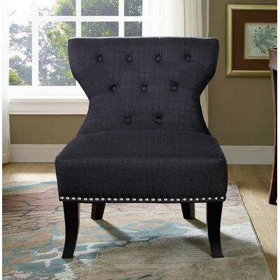 Kitchener Slipper Chair Upholstery: Charcoal