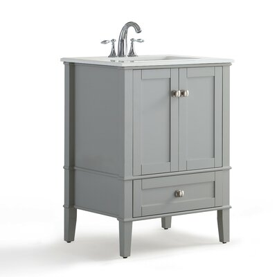 Chelsea 25 Single Bathroom Vanity with Quartz Marble Top