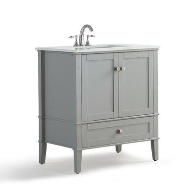 Chelsea 31 Single Bathroom Vanity with Quartz Marble Top
