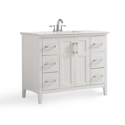 Winston 43 Single Bathroom Vanity with Quartz Marble Top