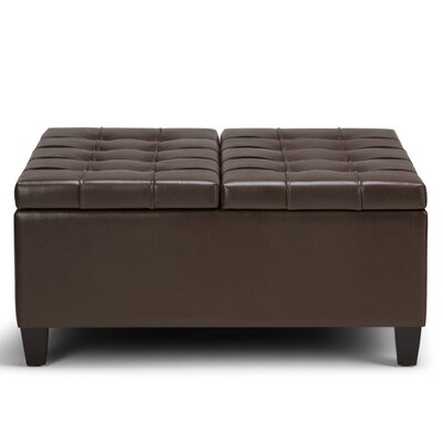Harrison Coffee Table Storage Ottoman Upholstery: Chocolate Brown