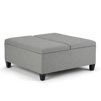 Ellis Coffee Table Storage Ottoman Upholstery: Dove Gray