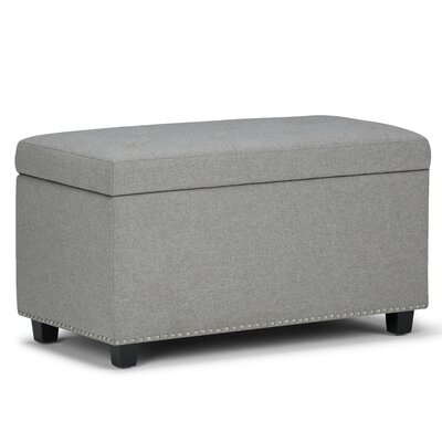 Hannah Upholstered Storage Ottoman Upholstery: Dove Gray