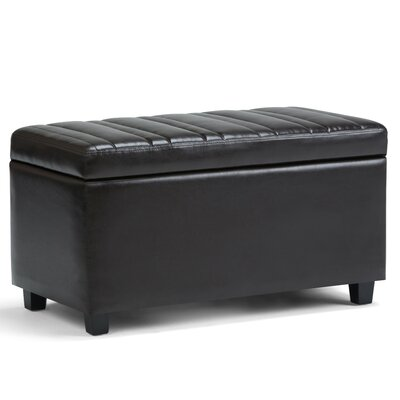 Darcy Faux Leather Storage Ottoman Upholstery: Tanners Brown