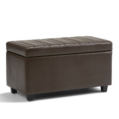 Darcy Faux Leather Storage Ottoman Upholstery: Chocolate Brown