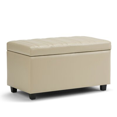 Darcy Faux Leather Storage Ottoman Upholstery: Satin Cream