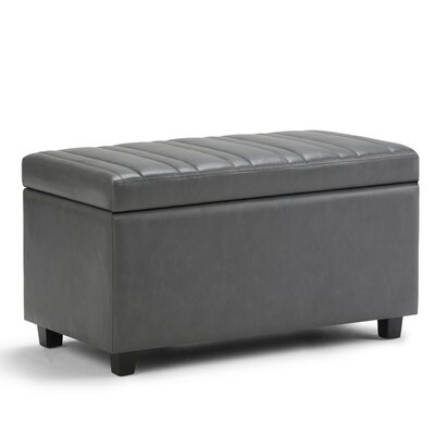Darcy Faux Leather Storage Ottoman Upholstery: Stone Gray