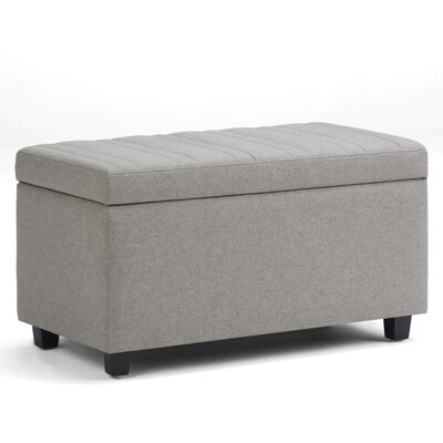 Darcy Storage Ottoman Upholstery: Dove Gray