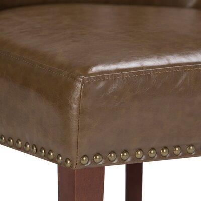 Jamestown Slipper Chair Upholstery: Saddle Brown
