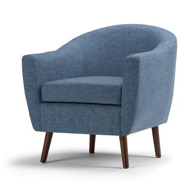 Roundstone Barrel Chair Upholstery: Denim Blue