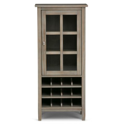 Warm Shaker 12 Bottle Floor Wine Cabinet Color: Distressed Grey