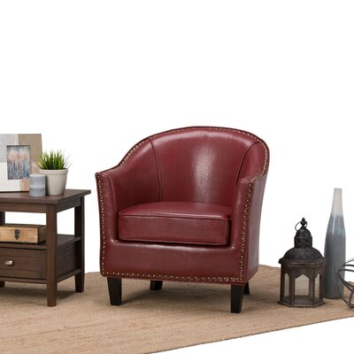 Kildare Barrel Chair Upholstery: Radicchio Red