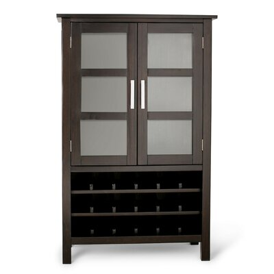 Kitchener 18 Bottle Floor Wine Cabinet