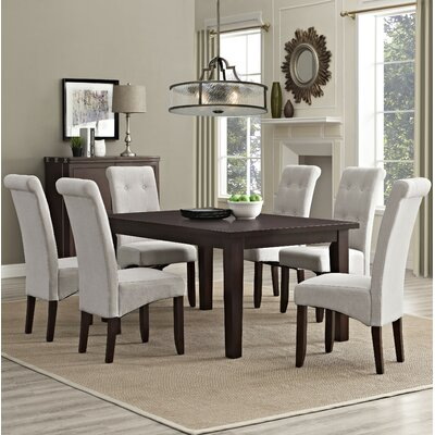 Eastwood 7 Piece Dining Set Chair Finish: Natural