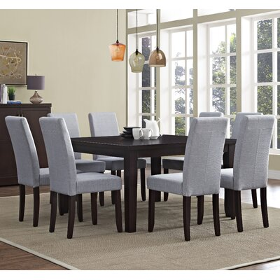 Acadian 9 Piece Dining Set Chair Finish: Dove Gray
