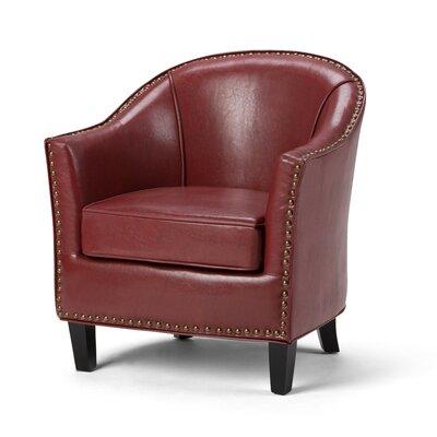 Kildare Barrel Chair Upholstery: Radicchio Red