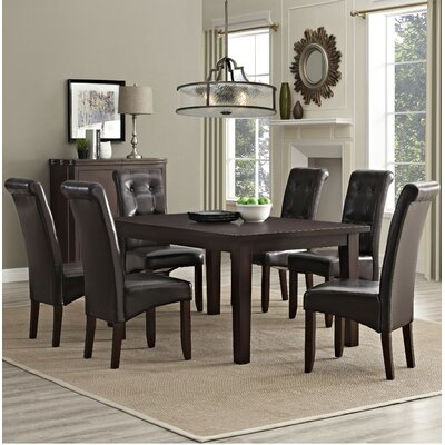 Cosmopolitan 7 Piece Dining Set Chair Finish: Tanners Brown
