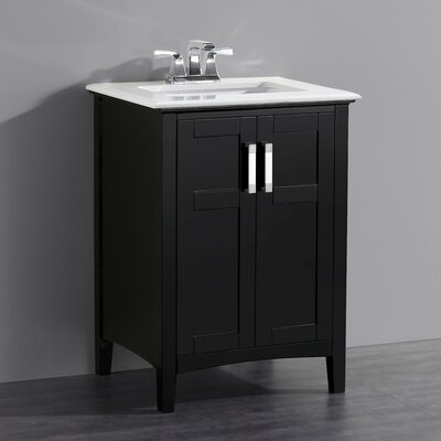 Winston 25 Single Bathroom Vanity Set Base Finish: Black