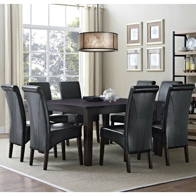 Avalon 9 Piece Dining Set Chair Finish: Midnight Black