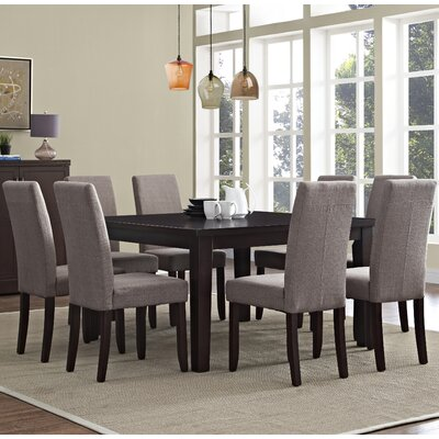 Acadian 9 Piece Dining Set Chair Finish: Light Mocha