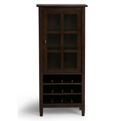 Warm Shaker 12 Bottle Floor Wine Cabinet Color: Tobacco Brown