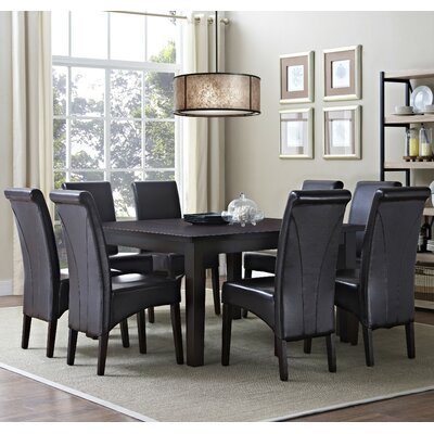 Avalon 9 Piece Dining Set Chair Finish: Tanners Brown