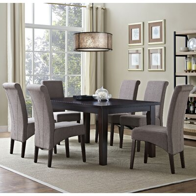 Avalon 7 Piece Dining Set Chair Finish: Light Mocha