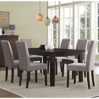 Acadian 7 Piece Dining Set Chair Finish: Light Mocha