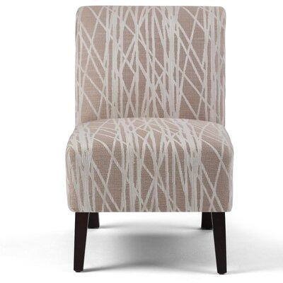 Woodford Slipper Chair Upholstery: Beige / White