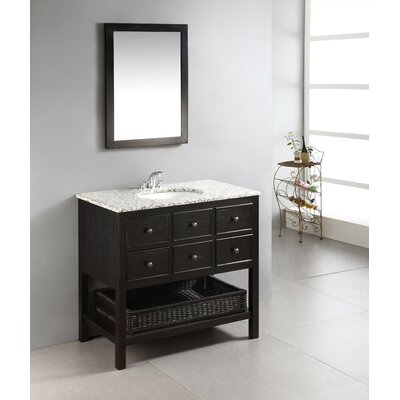 Burnaby 36 Single Bathroom Vanity Set Base Finish: Espresso