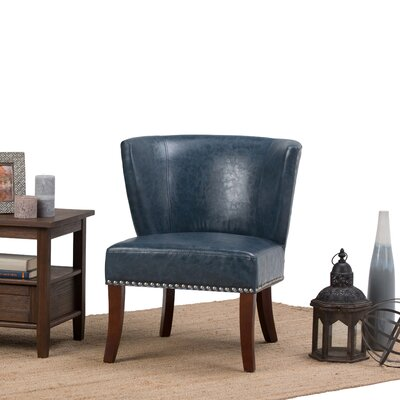 Jamestown Slipper Chair Upholstery: Denim Blue