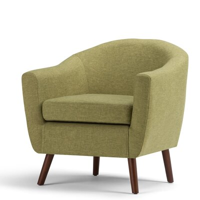 Roundstone Barrel Chair Upholstery: Acid Green